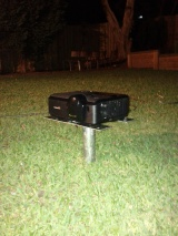 Outdoor home theatre projector stand