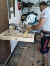 DIY: New drill press and drop saw bench for the workshop