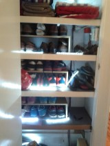 DIY: Building additional shelves for shoe cupboard and installing LED illumination