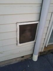 From the outside the doggy door has always been ugly