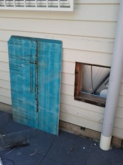 Blue board to cover the hole