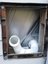 DIY: Clothes dryer installation in the laundry, including exhaustvent