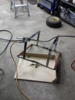 Welding on the floor