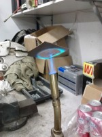 Flattening the copper. Heating it makes it more pliable. Also easier to clean.