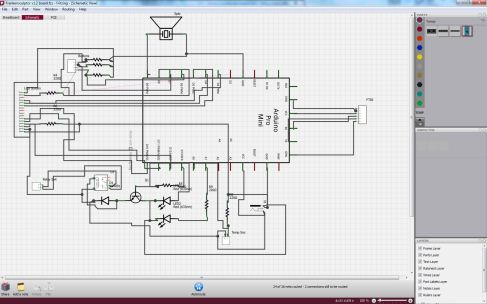Schematic using Fritzing
