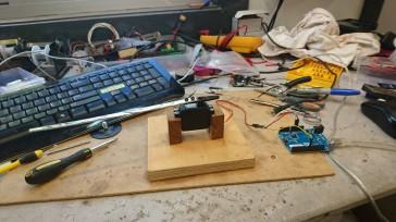 Testing the servo